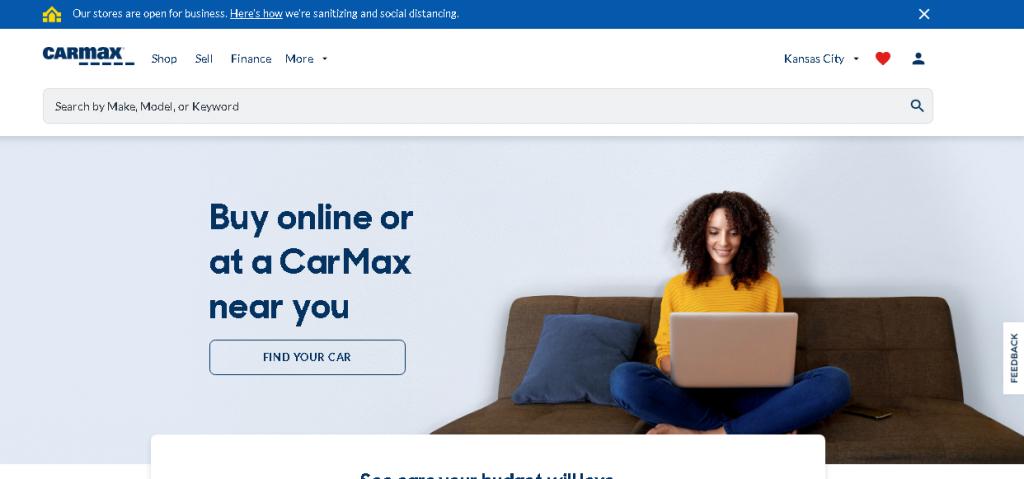 website design services in Essex - website design - CarMax
