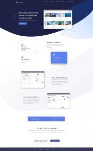 Termsheet home page web design - designoholic